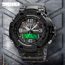 Fashion Military Outdoor Sport Watch Men 50M Waterproof Men's Watches Count Down Stopwatch Electronic Watch Top SKMEI Clock Mens