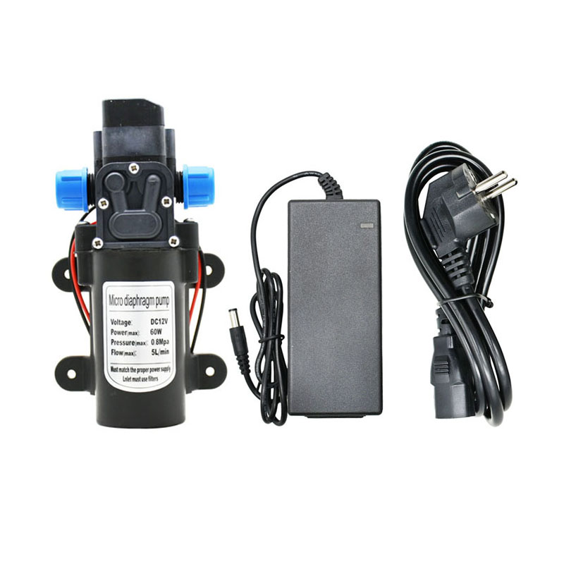 DC 12 Volt Water Pump 60w Micro High Pressure Self-Priming Booster Pump For Garden Irrigation Car Wash