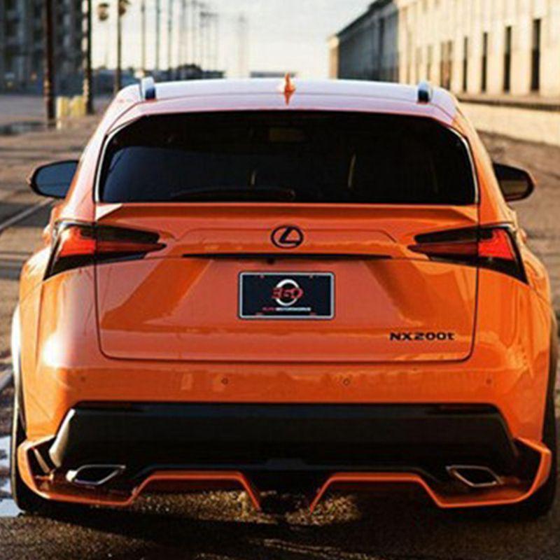 Accessori auto per Lexus NX200 NX200T NX300H Plastica ABS di alta qualità non verniciata Colore primer Ala posteriore Spoiler Decorazione auto