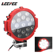 LEEPEE 7 inch Round LED Light Bar 51W LED Work Light Super Bright Spot Beam Driving Light For Truck Tractor 4x4 Off Road