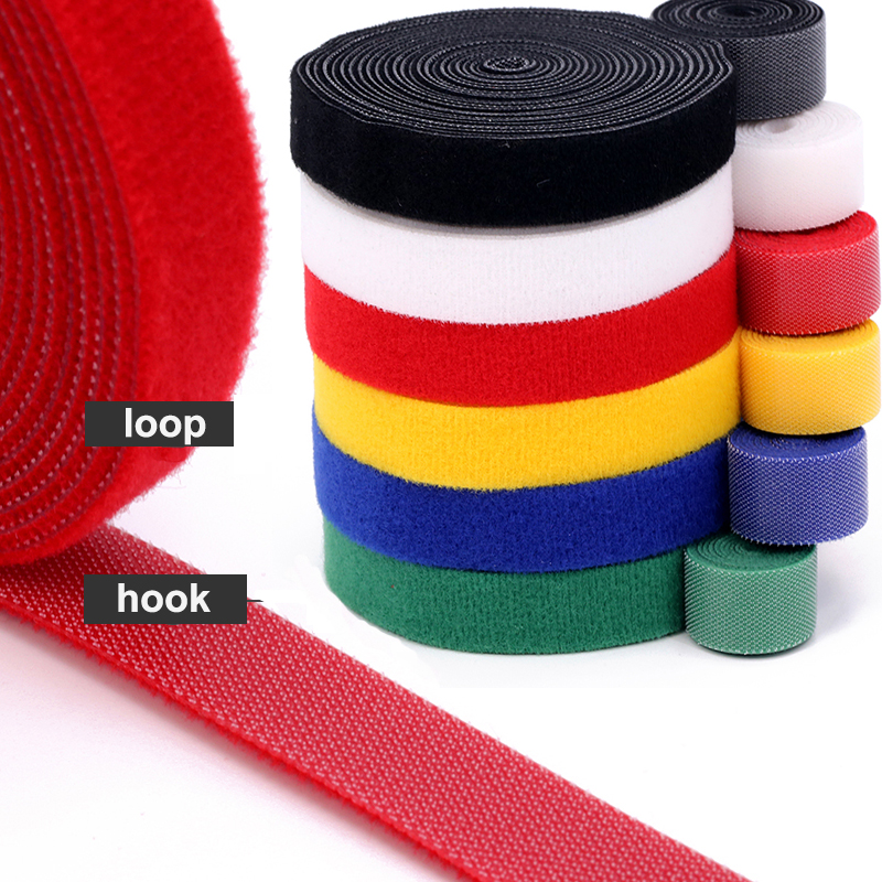 5Meter/lot Reusable Velcros Cable Ties Manager Winder Cable Clip Ties Belt Strap Ribbon Wire Strap Seals Office Desktop Manage
