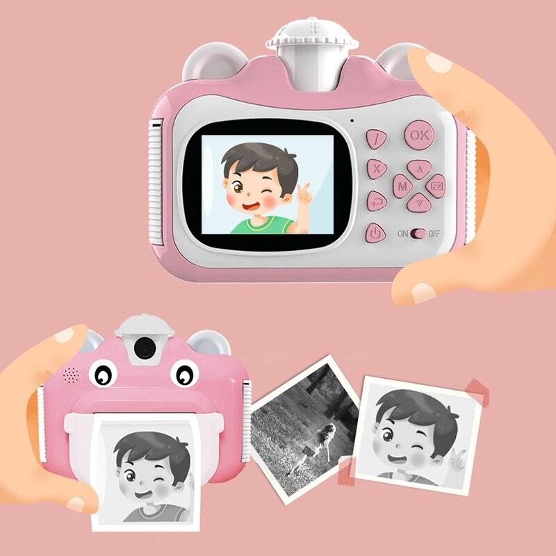 Новая Детская цифровая камера 1080P, однократная тепловизионная камера Polaroid Mini SLR, милый подарок на день рождения