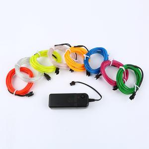 2m Flexible Neon Light Glow EL Wire Rope Cable Strip for Car Decor Party Clothing