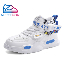 Hot Sale Children Running Shoe for Boy Leather Teenager Shoe Boy White blue Child Designer Sneakers High Top Kids School Shoes