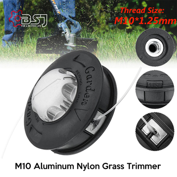 Universal M10 Aluminum Nylon Brush Mower Bump Spool Grass Trimmer 2 Lines Cutter Head Thread Line String Saw - discount item  42% OFF Garden Tools