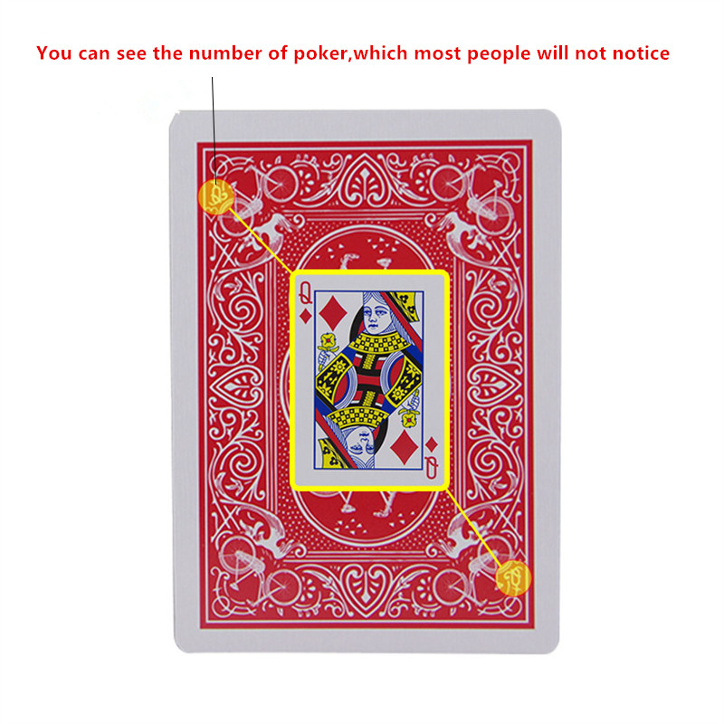 New Secret Marked Poker Cards See Through Playing Cards Magic Toys simple but unexpected Magic Tricks(China)