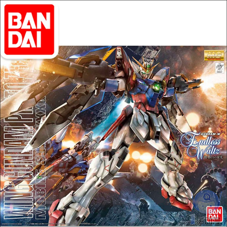 Original Gundam MG 1/100 Model XXXG-00W0 WING GUNDAM ZERO EW  Mobile Suit Kids Toys