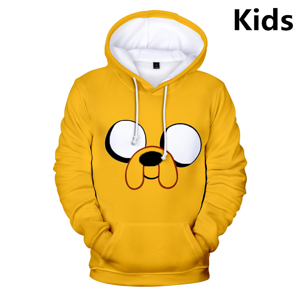 2 To 14 Years Kids Hoodies Adventure Time Finn And Jake The Dog Face Hoodie Sweatshirt Boys Girl Cartoon Jacket Children Clothes