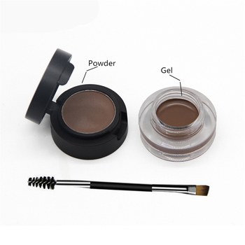 SANIYE 2 in1 Eyebrow Gel Waterproof Powder Eye Brow Gel Cream With Brush Eyebrow Enhancers Cosmetic Eye brow Tint Pomade