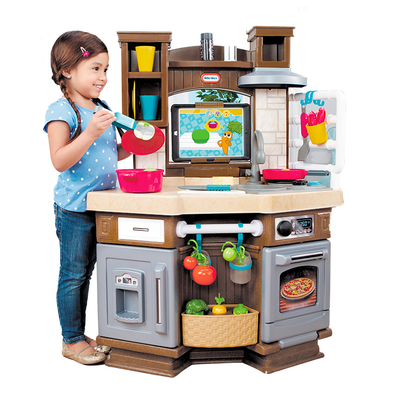 America Little Tikes Smart Learning Kitchen Children Play House Toys Model Kitchen Baby Character Play