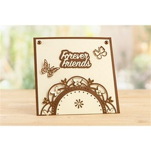 Forever Friends Wreath Frame Metal Cutting Dies for DIY Scrapbooking Embossing Paper Cards Making Crafts 2019 New
