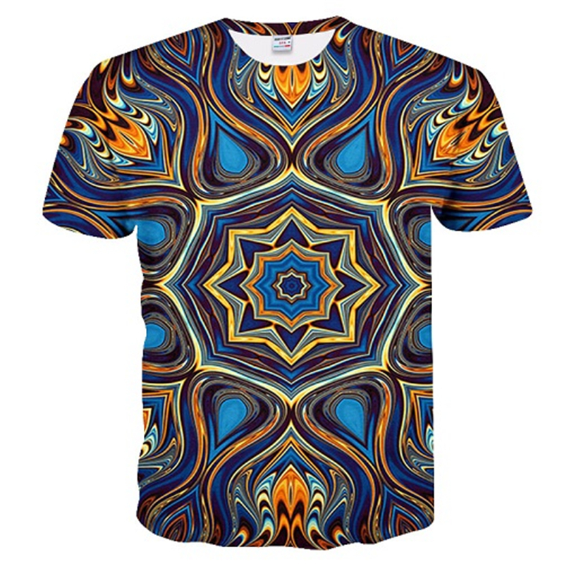3D Illusion T Shirt Men Summer Short Sleeve Funny Tshirt 3D Printed Round Neck Tops Tee Hip Hop Streetwear Vertigo 3d T Shirt