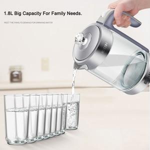 Image 3 - 1.8L BPA FREE 2200W SpeedBoil Electric Glass Kettle Cordless Tea Coffee Pot BLUE LED Light Auto Shut Off  Dry Protection