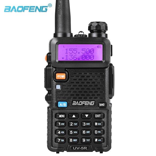 Baofeng Walkie Talkie UV 5R de doble banda, dispositivo de audio con pantalla Dual de 136 174/400 520mHZ, 5W, Radio bidireccional con auricular gratis BaoFeng UV 5R
