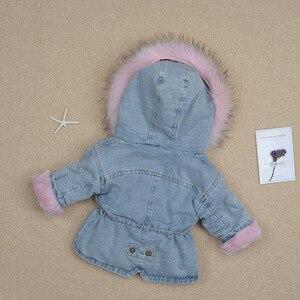 Image 5 - Kinderen Cowboy Warme Jas Voor Jongens En Meisjes Baby Baby Thicken Peuter Jassen 1 5Y Denim Plus Fluwelen Jas Voor koude Winter