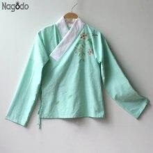 Китайская традиционная рубашка 2020 оригинальные зеленые повседневные
