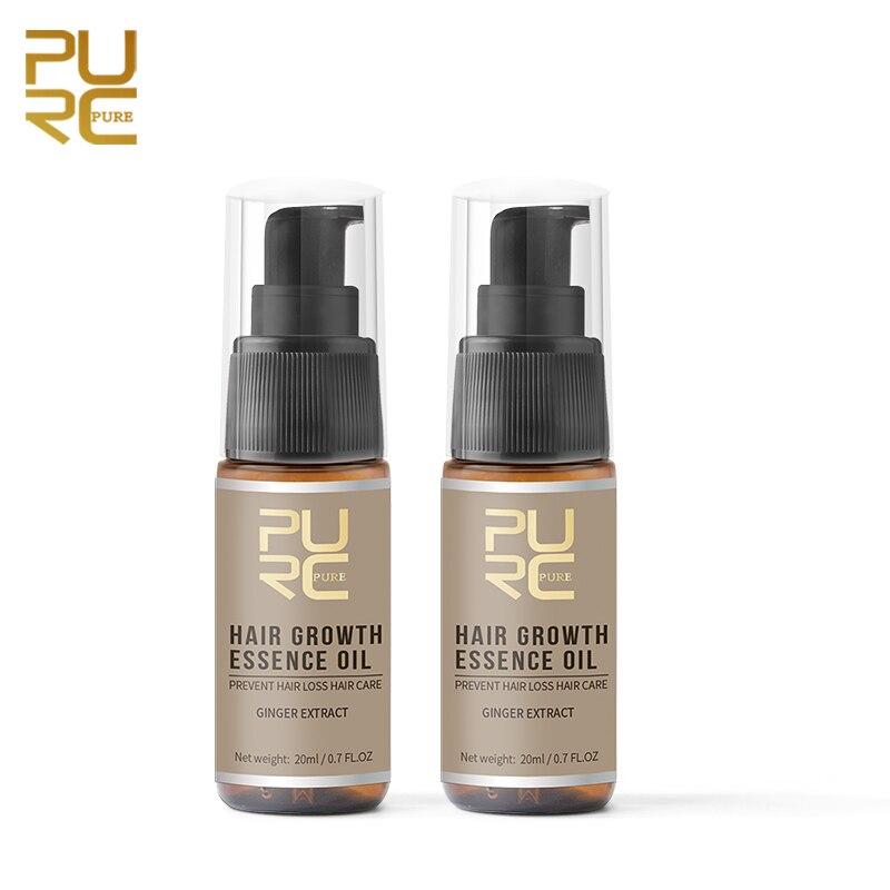 PURC Esencia de crecimiento de pelo rápido, aceite para la pérdida de cabello, tratamiento ayuda para el crecimiento del cabello, cuidado del cabello, 20ml, 2 uds.|Productos anticaída del cabello| - AliExpress