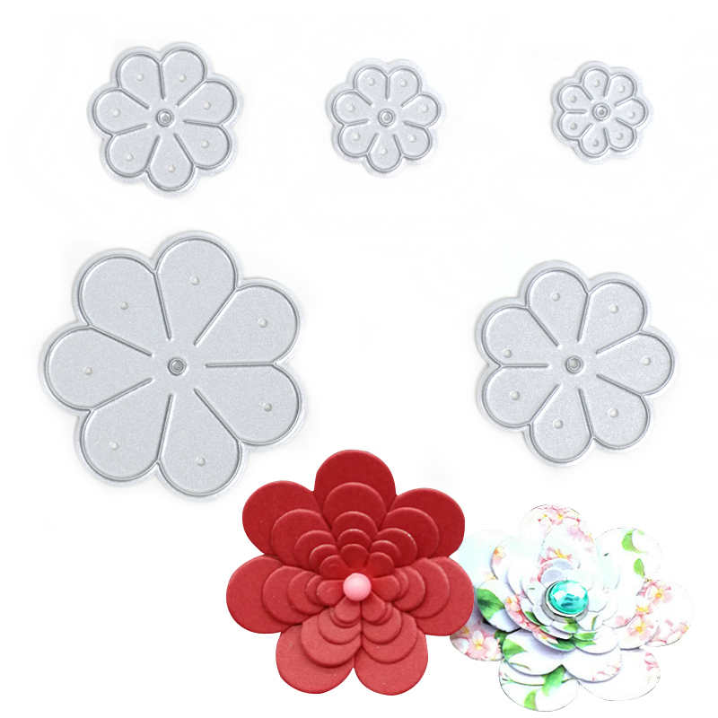 5pcs/set <font><b>Flower</b></font> Shape <font><b>Cake</b></font> <font><b>Decorating</b></font> Fondant <font><b>Cutters</b></font> <font><b>Tools</b></font> Stainless Steel Cookie Biscuit <font><b>Cutter</b></font> DIY <font><b>Cake</b></font> Baking Molds image