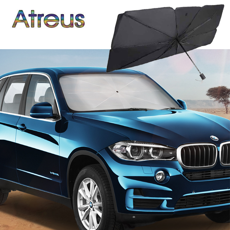 Car Front Window Sun Shade Protector Parasol UV Protector for BMW E39 E60 F30 E90 E46 Interior E36 serie 1 F20 E92 E87 X5 E70 M image