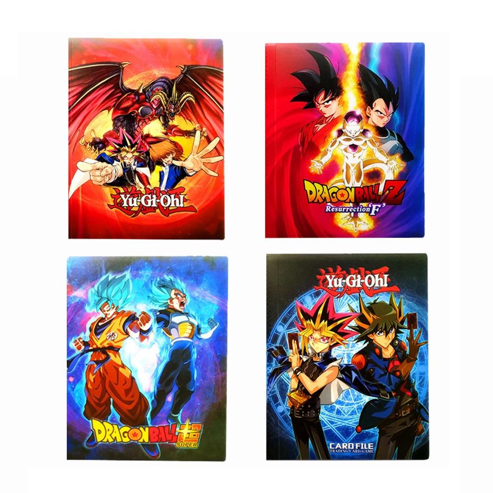 Kids Gift Cartoon Anime Yu Gi Oh 240pcs Holder Album Toys Dragon Ball Collection Cards Album Book Top