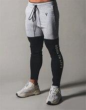 2020 nova marca calças magras dos homens ginásio retalhos de fitness masculino correndo calças pista corredores moletom calças treinamento esportivo