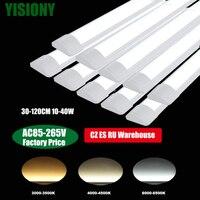 Yisiony 10個30-120センチメートル40ワット110v-220v ledチューブライトリニアledランプチューブ表面実装天井商業家庭用