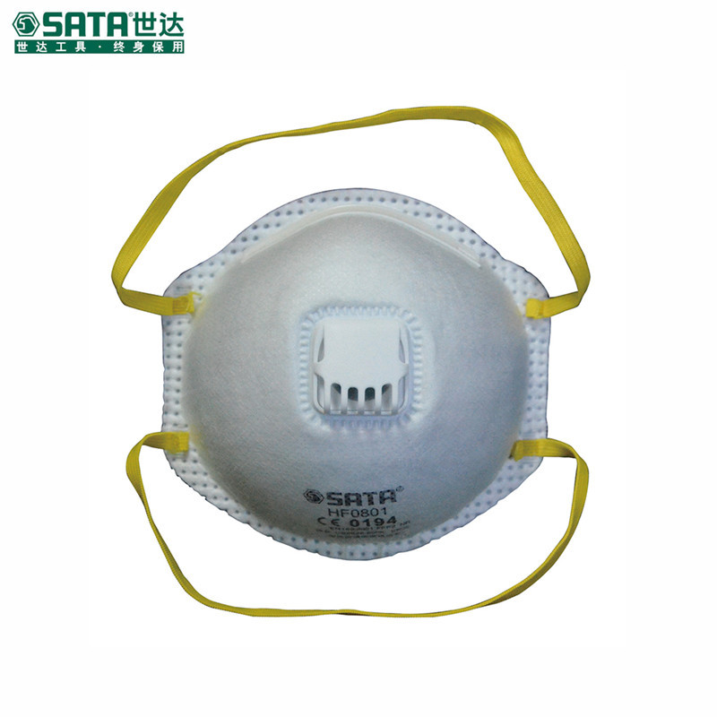 Sata HF0801 Dust Respirator Cup With Valve Haze-resistant Mask Industrial Anti-PM2.5 Face Mask