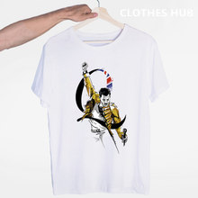 Freddie Mercury The Queen Band Hip Hop Rock Hipster T-shirt O-Neck Short Sleeves Summer Casual Fashion Unisex Men And Women Tshi(China)