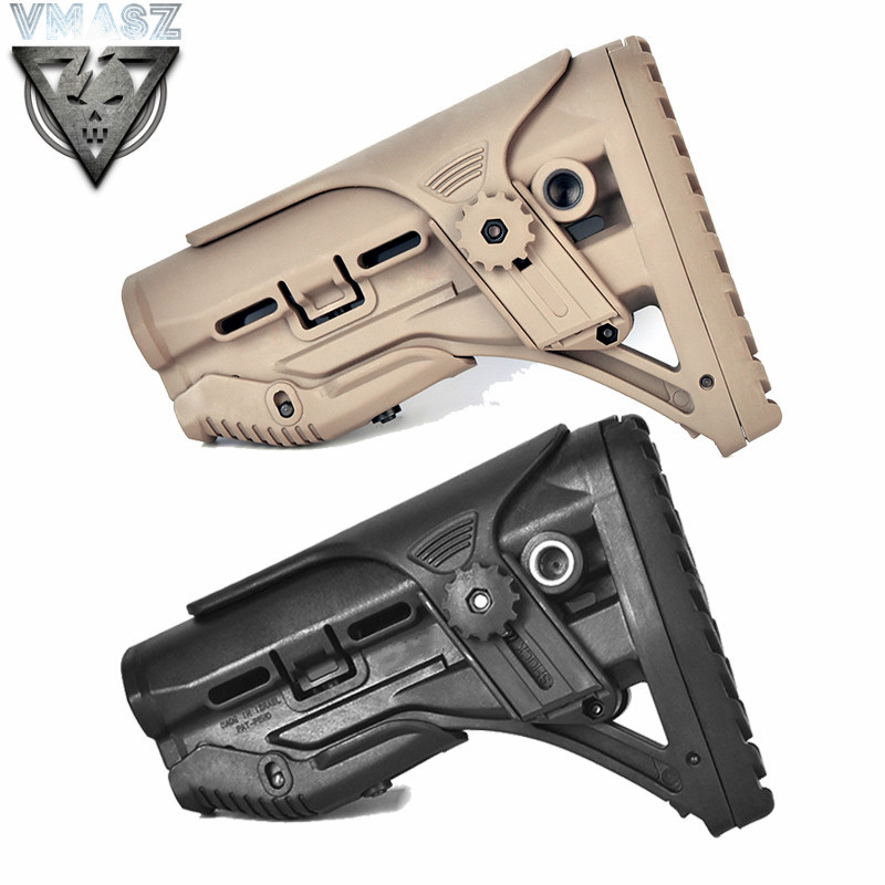 Nylon Adjustable Extended Stock for Paintball Accessories Airsoft AEG M4 Gel Blaster J8 J9 CS Sports(China)