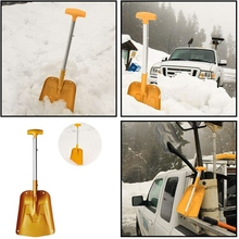 Легкая Складная лопата для снега, портативная регулируемая алюминиевая аварийная лопата, складная телескопическая зимняя Лопата для автомобиля, C