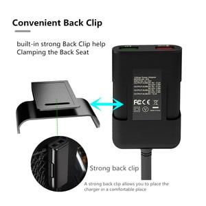 Image 4 - المقعد الخلفي 4 منفذ USB سريع الشحن 3.0 سيارة الجبهة المحمولة شاحن آيفون هواوي 60 واط 12A quadra ميناء USB سريع شاحن الهاتف