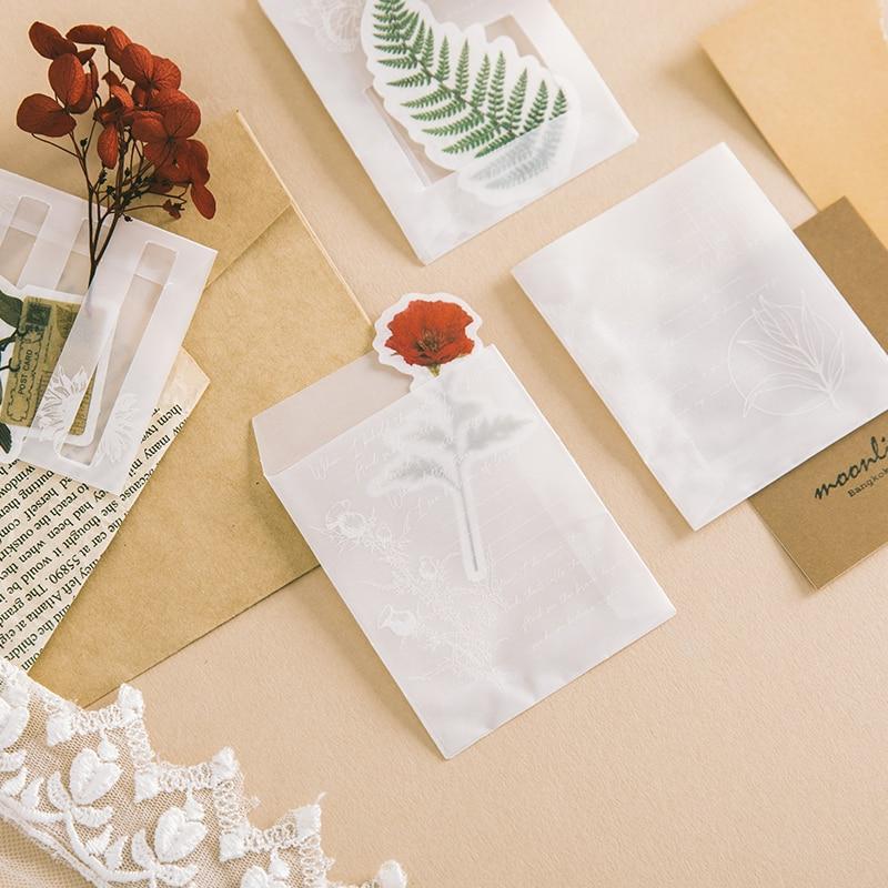 3pcs/lot Transparent Sulfuric Acid Paper Envelope Sets Creative Designs DIY Multifunction Mini Envelope Sets