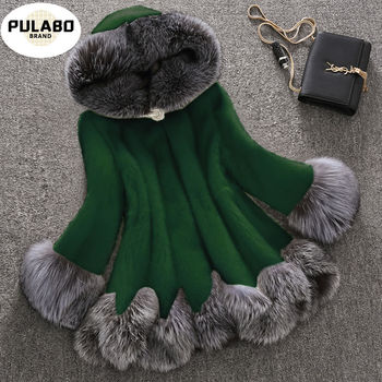 Plus Size 10XL Fashion Fox Real Fur Coat Thick Warm Fox Womens Coats 2020 Winter Whole Skin Natural Fur Elegant Jacket Costume image