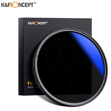 K & f conceito 37-82mm nd2 para nd400 nd lente filtro fader ajustável densidade neutra variável 49mm 52mm 58mm 62mm 67mm 77mm
