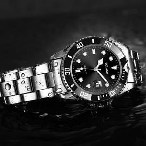 Image 3 - Fashion Green Watch Men 2020 Mens Watches Top Brand Luxury Full Steel Man Quartz Wristwatches Date Waterproof Clock reloj hombre