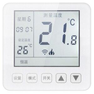 Termostato inteligente wi fi controle app controle de temperatura sem fio aquecimento piso elétrico para sala quente termorregulador|Aquecedores elétricos| |  -