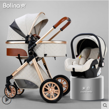 Luxury Baby Stroller 3 in 1 High landscape Cart Can Sit /Lie Baby Pushchair Cradel Infant Carrier 5 5kg high landscape baby stroller lightweight baby strollers foldable portable four wheel stroller baby carrier pushchair cart