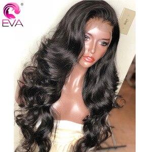 Image 3 - Eva koronkowa fala peruka Front 13x6 koronki przodu włosów ludzkich peruk wstępnie oskubane 5x5 HD zamknięcie koronki peruka brazylijski fałszywe skóry głowy ludzki włos peruka Remy