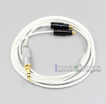 LN006643 XLR 4.4mm 2.5mm Hi-Res Silver Plated 7N OCC Earphone Cable For Shure SRH1540 SRH1840 SRH1440
