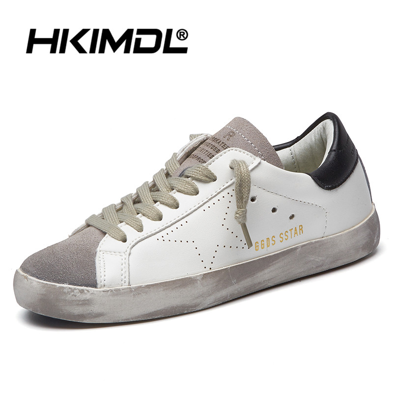 HKIMDL 2020 New Men White Shoes Casual Imitation Pu Leather Flat Shoe Lace-up Low Top Female Sneakers Tenis Masculino Adulto