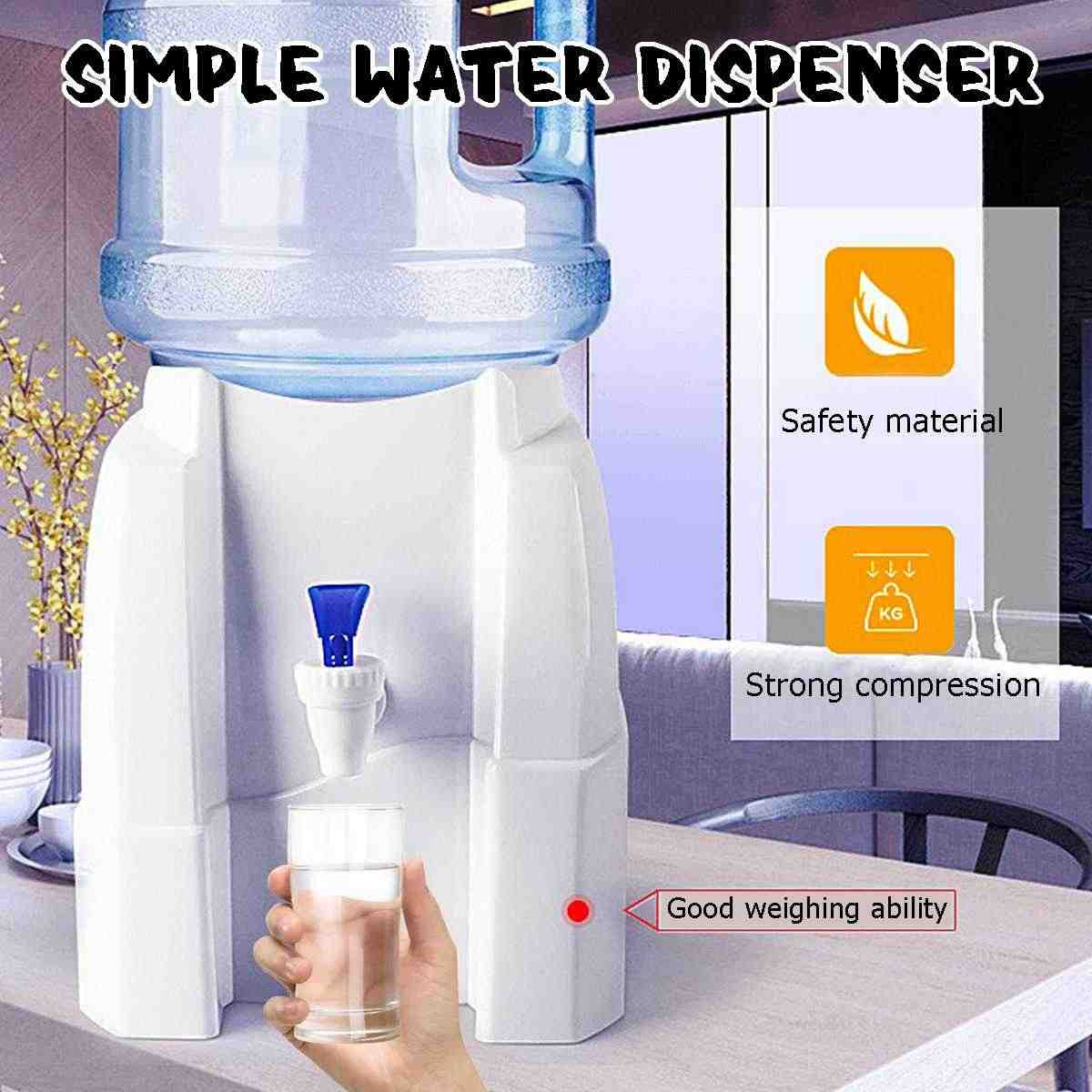 Desktop Cold Water Dispenser Portable Countertop Cooler Drinking Faucet Tool Water Holder Press Water Pumping Device For Home