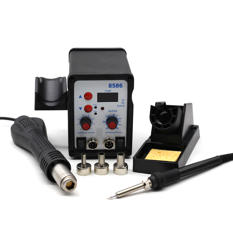 8586 Soldering Station SMD BGA Rework Hot Air Blower Heat Gun Welding Soldering Iron Repair Tool