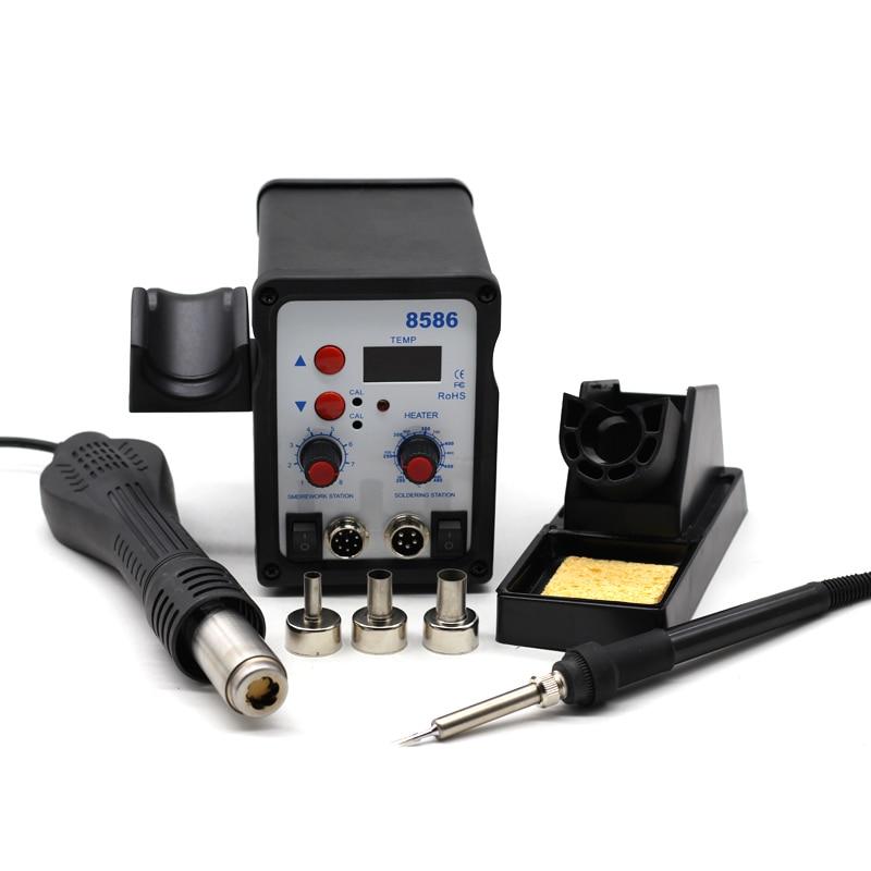 8586 Station de soudage SMD BGA retravail souffleur d'air chaud pistolet à chaleur soudage fer à souder outil de réparation