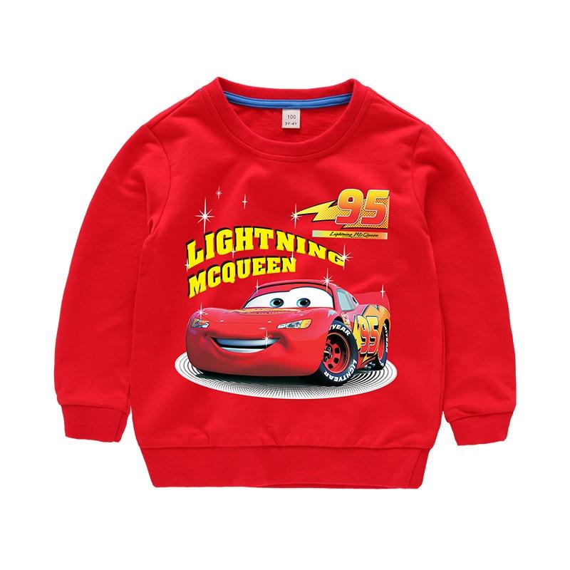 Disney Cars Sweatshirt Cotton Boy Sweatshirt Child Lightning McQueen Sweatshirt 5