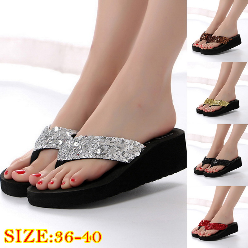 Sandals Women Bright Diamond Casual Outdoor Travel Flip Flop Beach Shoes Women Non-slip Slippers Shoes Woman Dropshipping