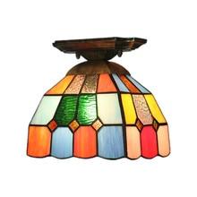 купить Tiffany European Ceiling Lamp Staircase Balcony Hallway Stained Glass Lampshade Ceiling Lamp Living Room Lights Led Lights дешево