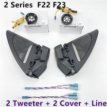 Car Front Door Tweeter Cover Speaker For BMW F22 F23 2 Series Loudspeaker Horn Modification Sticker Decoration Original Upgrade