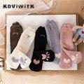 Женские хлопковые утепленные кашемировые носки для женщин, женские пушистые дышащие Теплые повседневные короткие носки Love для девушек, жен...