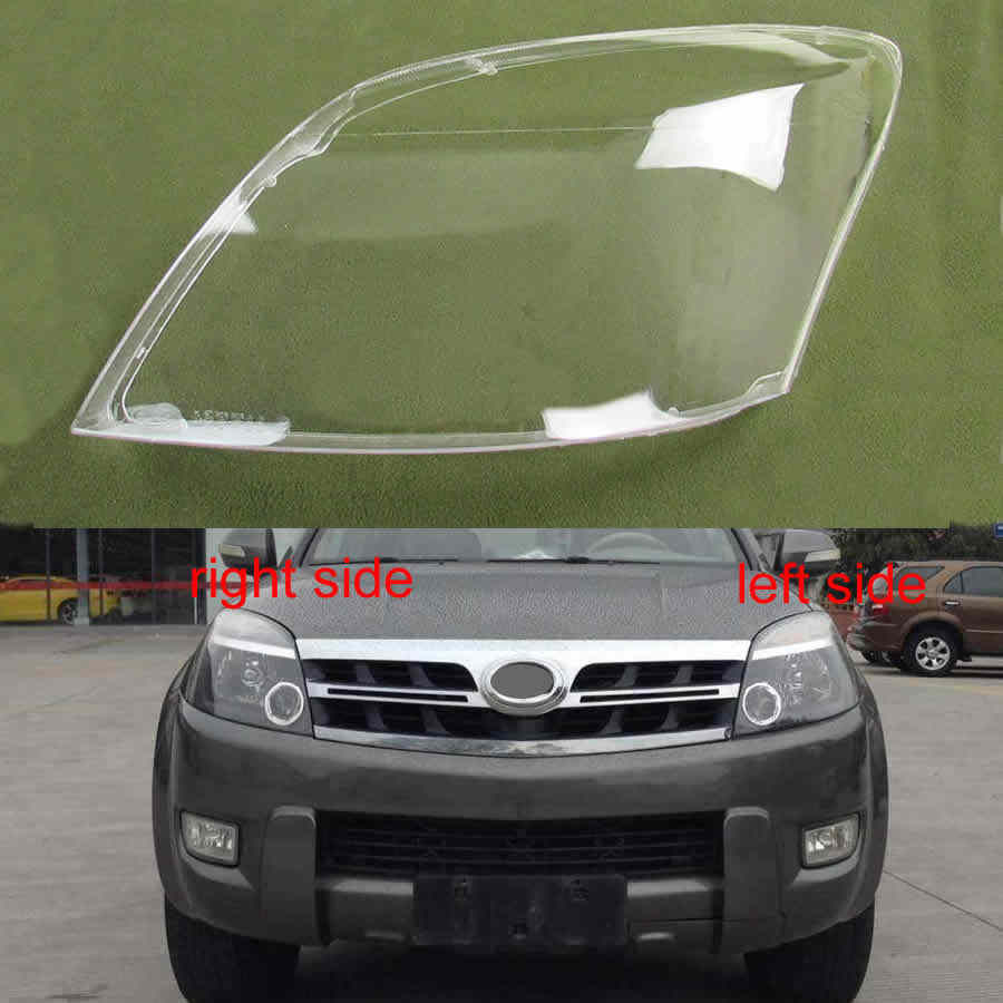 Koplamp Lamp Schaduw Koplamp Transparante Cover Lampenkap Koplamp Glas Voor Great Wall Hover Haval H3 2005-2013