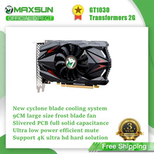 Graphic-Card Nvidia Gpu Desktop GDDR5 Maxsun Gaming 1030 Geforce Gt DVI 2G Temperature-Control
